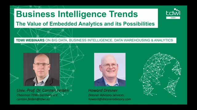 The Value of Embedded Analytics and its Possibilities (TDWI Webinar)