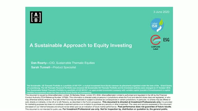 A Sustainable Approach to Equity Investing