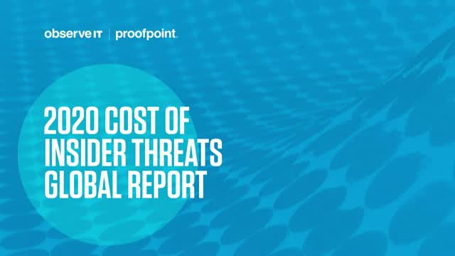 2020 Cost of Insider Threats Report - Over view with LIVE Q&As - APAC APJ Region