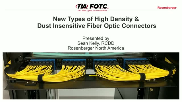 New types of High Density and Dust Insensitive fiber optic connectors
