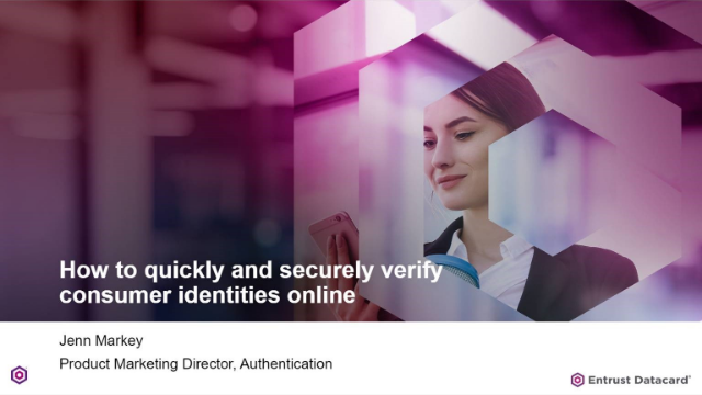 How to quickly and securely verify consumer identities online