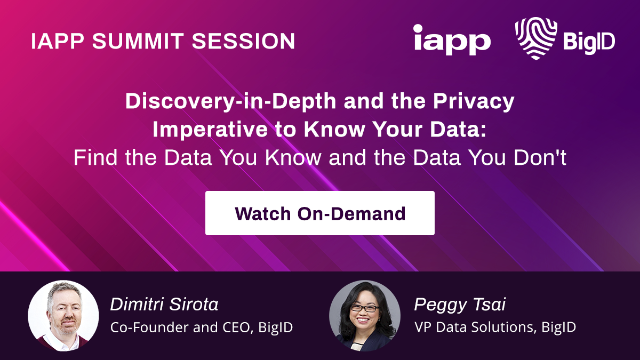 Discovery-in-Depth and the Privacy Imperative to Know Your Data