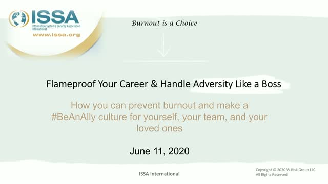 ISSA Thought Leadership Series: Preventing Burnout and Dealing with Adversity
