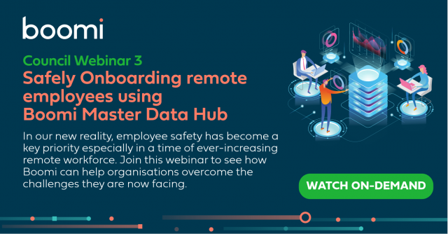 Safely onboarding remote employees using Boomi Master Data Hub