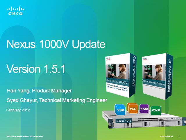 Nexus 1000V v1.5 Technical Deep Dive