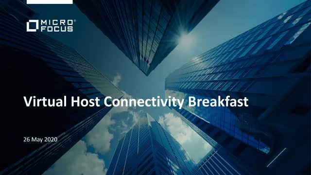 Micro Focus Virtual Host Connectivity Breakfast