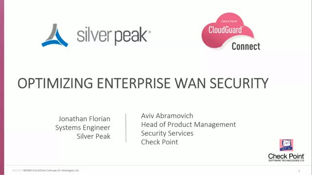 Check Point Partners with Silver Peak to Secure SD-WAN Connections to the Cloud