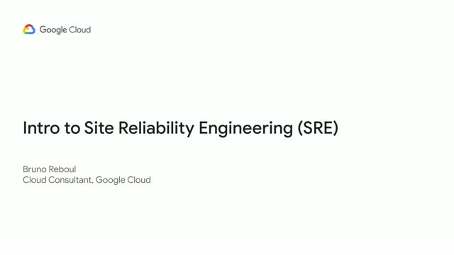 Intro to Site Reliability Engineering (SRE)