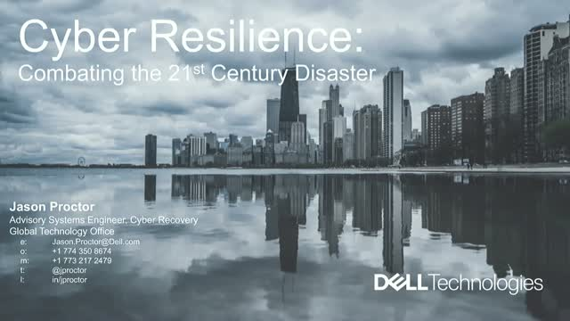 Cyber Resiliency: Combating the 21st Century Disaster