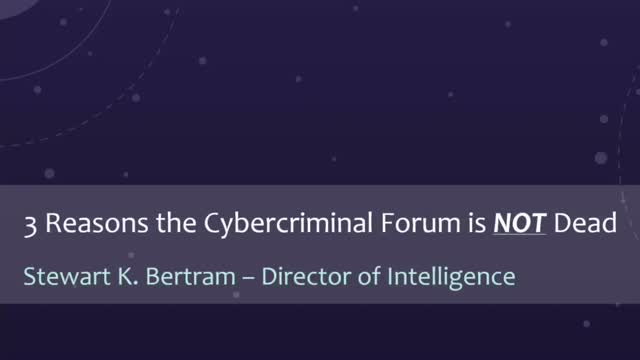 The Cybercriminal Forum is Not Dead