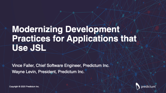 Modernizing Development Practices for Applications that Use JSL