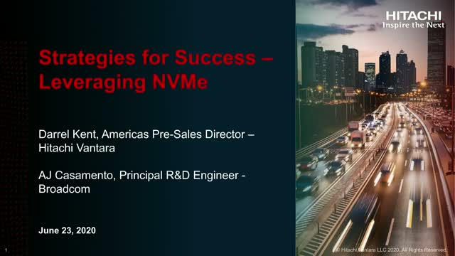 Strategies for Success – Leveraging NVMe