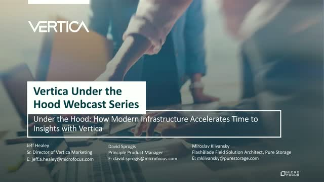 How Modern Infrastructure Accelerates Time to Insights with Vertica
