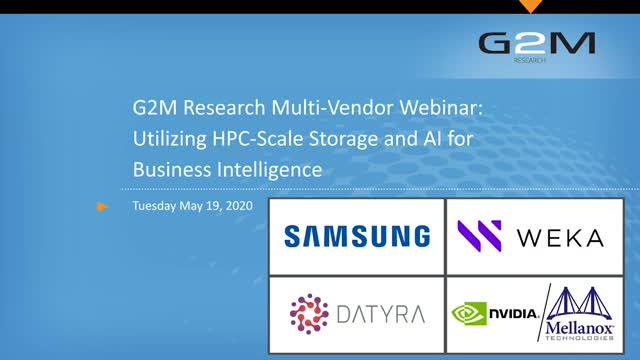 Utilizing HPC-Scale Storage and AI for Business Intelligence