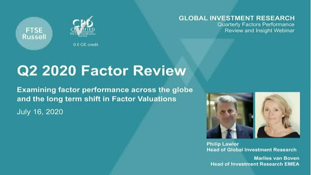 How has Covid-19 affected factor performance and valuations? (APAC timezone)