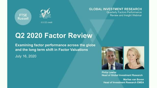 How has Covid-19 affected factor performance and valuations? (Americas timezone)