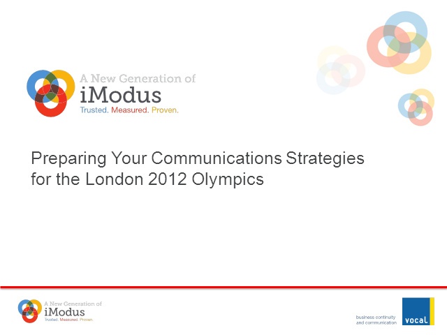 Preparing your Communications Strategies for London 2012
