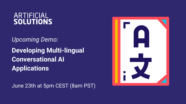 Demo: Developing Multi-lingual Conversational AI Applications