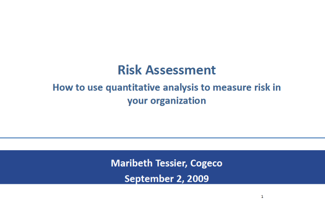 Quantitative analysis to measure risk in your organization