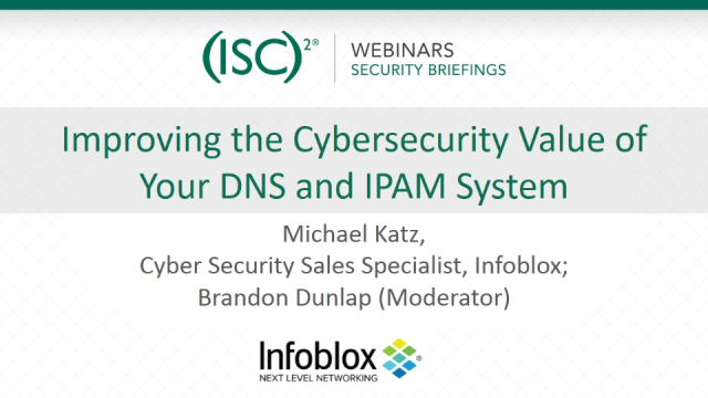 Improving the Cybersecurity Value of Your DNS and IPAM System