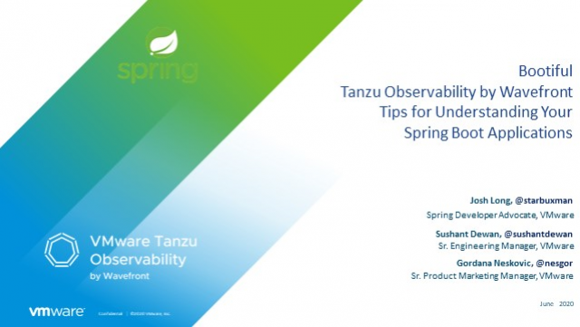 Tanzu Observability Tips for Understanding Your Spring Boot Applications