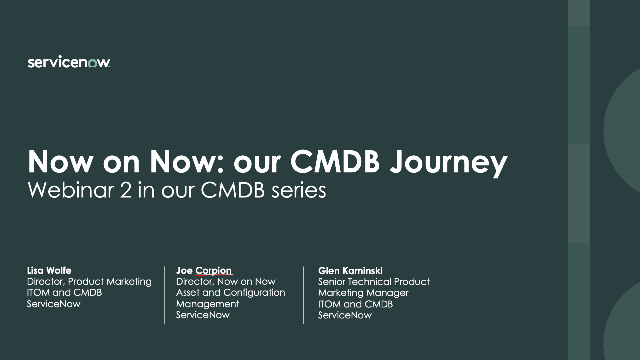 CMDB best practices from Now on Now experts (Part 2 in CMDB series)