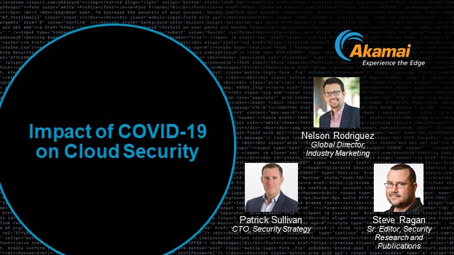 Impact of COVID-19 on Cloud Security