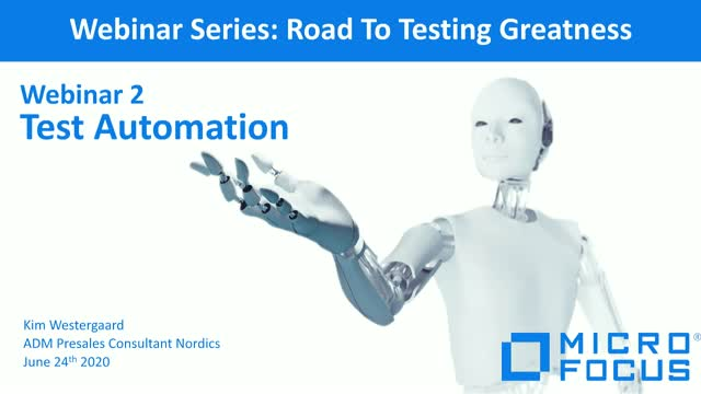 Road to Testing Greatness Exciting webinars in 3 part, 2nd Test Automation