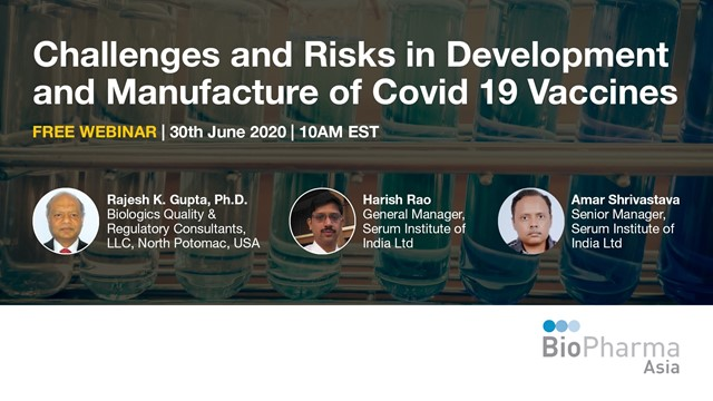Challenges and Risks in Development and Manufacture of Covid 19 Vaccines