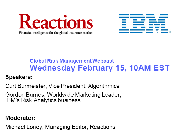 Reactions Global Risk Management Webcast