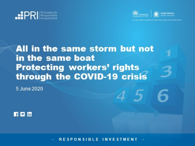 Protecting workers' rights through the COVID-19 crisis