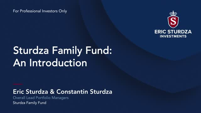 The Sturdza Family Fund – An Introduction