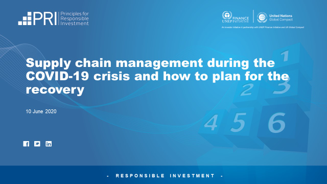 Supply chain management during the COVID-19 crisis