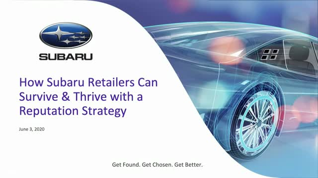 How Subaru Dealers Can Survive & Thrive with a Reputation Strategy