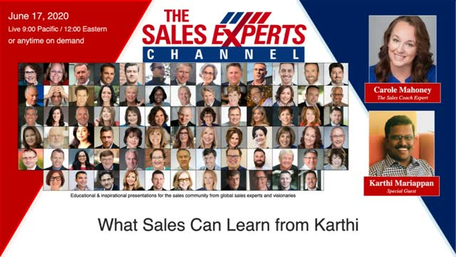 What Sales Can Learn from Karthi