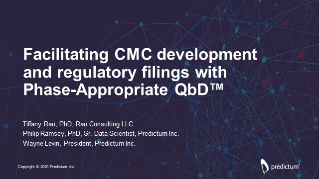 Facilitating CMC Development and Regulatory Filings with Phase-Appropriate QbD