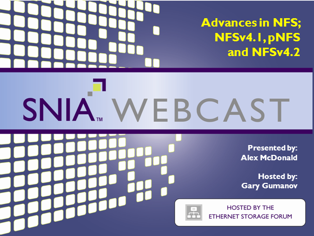 Advances in NFS – NFSv4.1 and pNFS