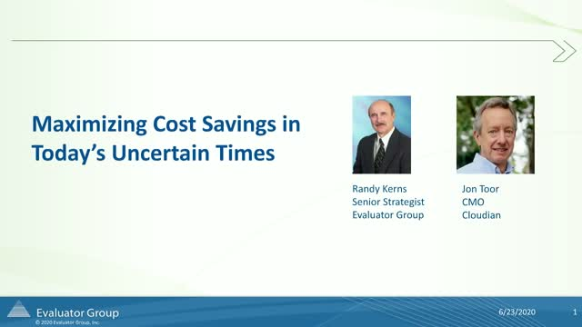Analyst Webinar: 4 Strategies to Save on Storage Costs