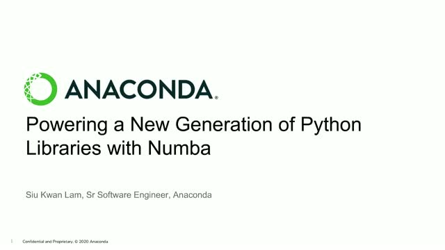 Powering a New Generation of Python Libraries with Numba