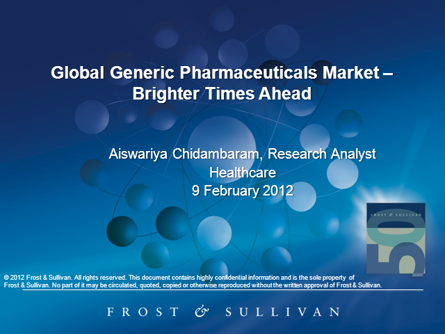 Global Generic Pharmaceuticals Market - Brighter Times Ahead?