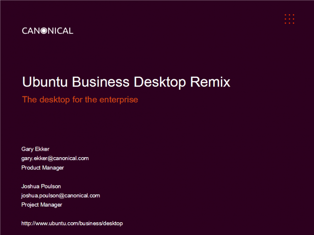 Introducing Ubuntu Business Desktop Remix - the desktop for the enterprise