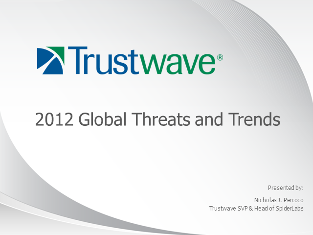 2012 Global Security Threats and Trends
