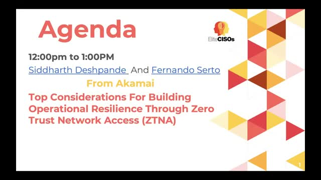 Building Operational Resilience Through Zero Trust Network Access