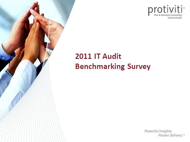 IT Audit Benchmarking Survey Webinar