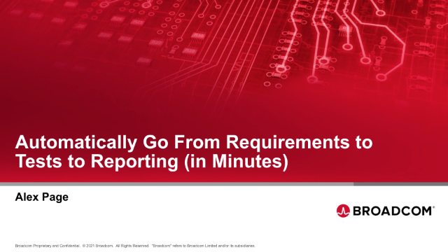 Automatically Go From Requirements to Tests to Reporting (in Minutes)