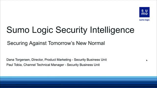 Sumo Logic and AWS Security Intelligence: Securing Against Tomorrow's New Normal