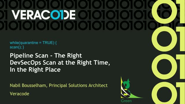 Pipeline Scan - The Right DevSecOps Scan at the Right Time, In the Right Place