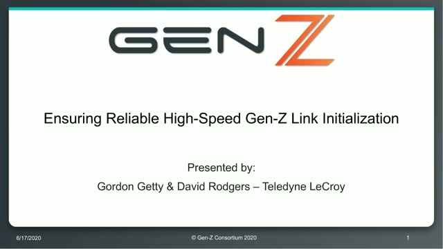 Ensuring Reliable High-Speed Gen-Z Link Initialization