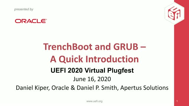 TrenchBoot and GRUB - A Quick Introduction