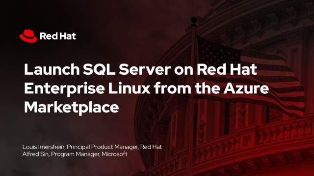 Launch SQL Server on Red Hat Enterprise Linux from the Azure Marketplace